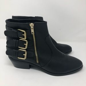 Leather Boots with Gold Accents